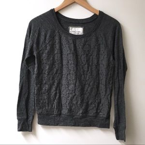 Abercrombie & Fitch Gray Lace panel  sweatshirt
